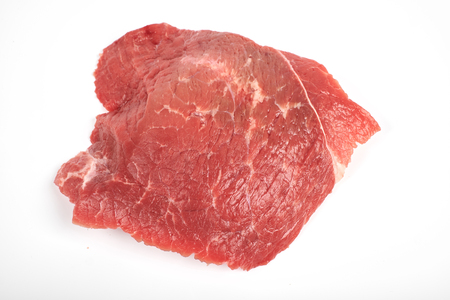 fresh raw beef isolated on white background 写真素材