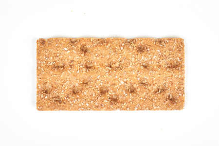 The healthy crispbread isolated on white background