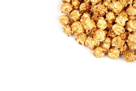 caramel popcorn on white background Stock Photo