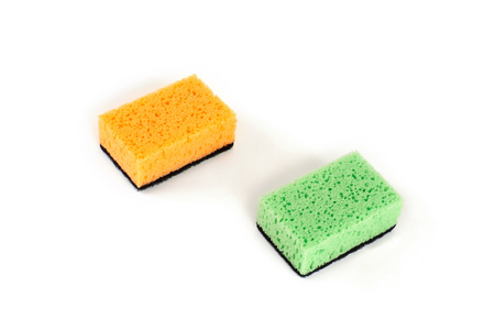 set of kitchen sponges isolated on the white background. Reklamní fotografie