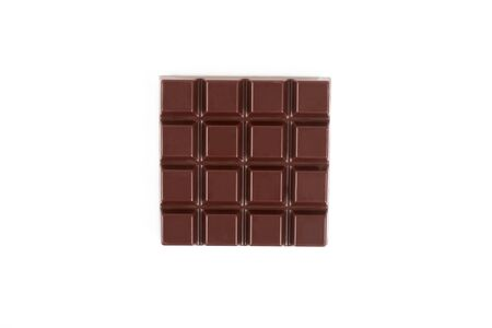 Dark chocolate bar isolated on a white background. Reklamní fotografie