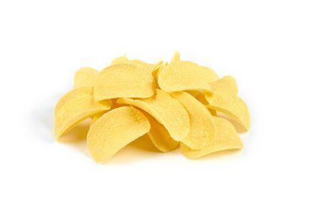 Potato chips isolated on white background. Standard-Bild