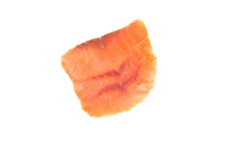 Fillet of red fish isolated on white background.