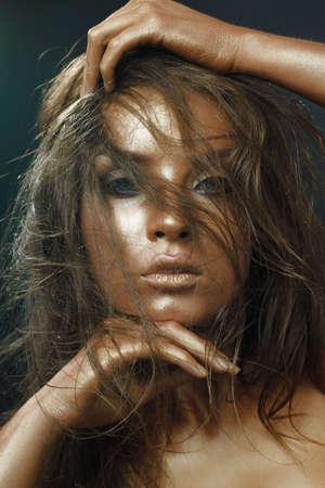 Portrait young woman photo