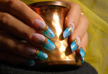 hand art: Manicure art Stock Photo