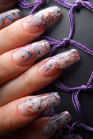 acrylic: Manicure art Stock Photo