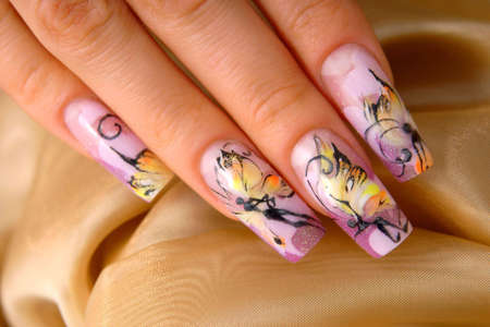 nail art: Manicure art Stock Photo