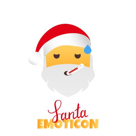 Sick Emoticon. illustration on white background. Illustration