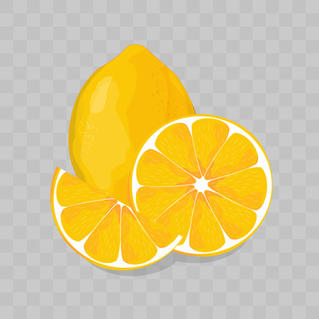 Lemon isolated on transparent background illustration