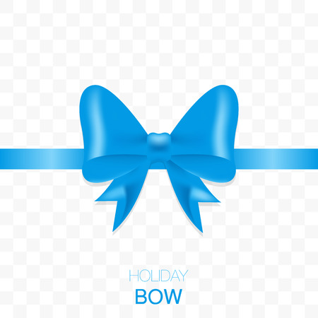 transparence: Holiday bow with ribbon on transparent background.