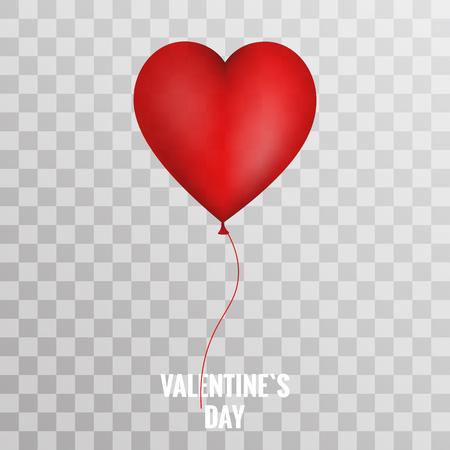 balloon background: Valentine heart red balloon on transparent background