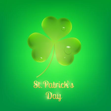 Clover. Three leaves clover leaf for Saint Patricks Day