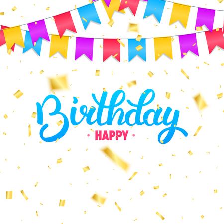 Tarjeta De Cumpleaños. Tipografía Del Feliz Cumpleaños Del Brillo ...