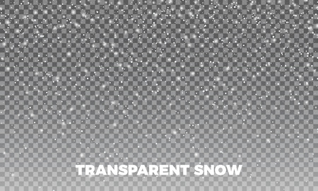 Snow. Vectror transparent snow background. Christmas and New Year decoration. Ilustração
