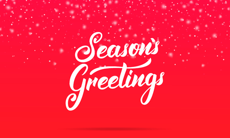 Christmas seasons greetings lettering design winter holiday seasons greetings lettering design winter holiday card with seasons greetings calligraphy and shiny m4hsunfo