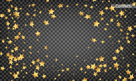 Star confetti. Festive design elements. Shiny flying confetti Фото со стока