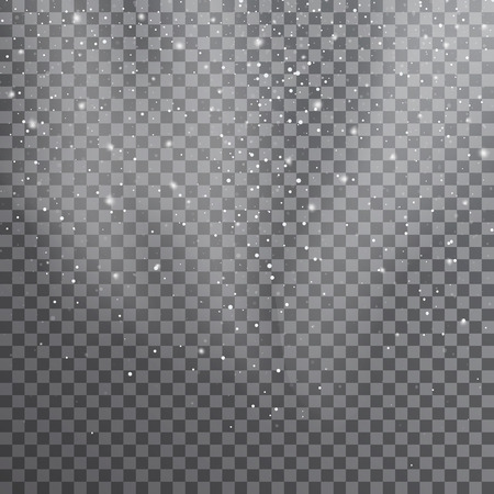 Snow. Vector transparent realistic snow background. Christmas and New Year decoration. Snow blizzard snowstorm background Illustration