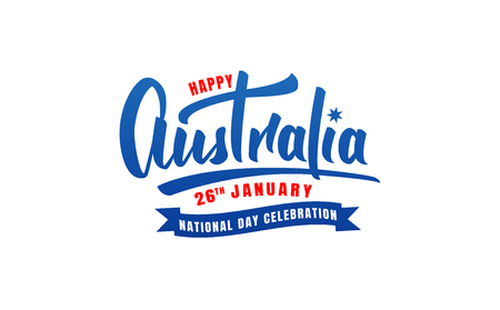 Australia Day. Lettering symbol for Australia National Day. Illustration