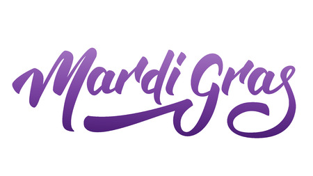 Mardi Gras. Lettering Mardi Gras for Fat Tuesday Holiday. Illustration