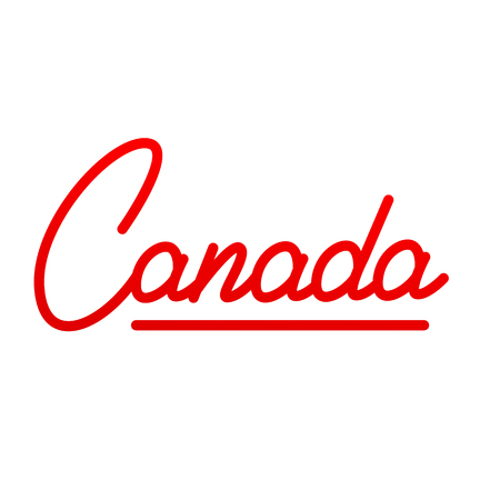Canada. Text Lettering Design Canada Illustration
