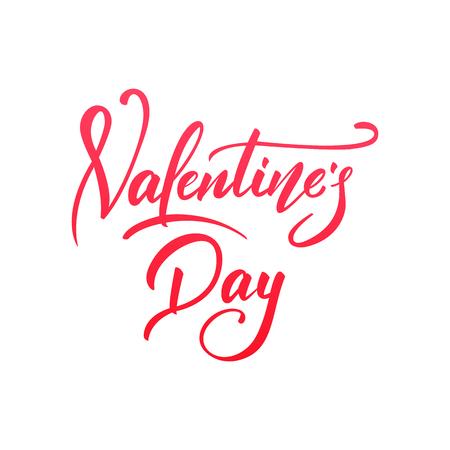 Valentines Day. Script lettering design. Happy Valentines Day
