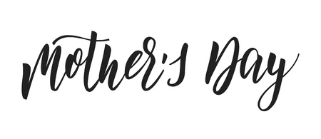 Mothers Day. Holiday calligraphy lettering design. Mothers Day script calligraphy