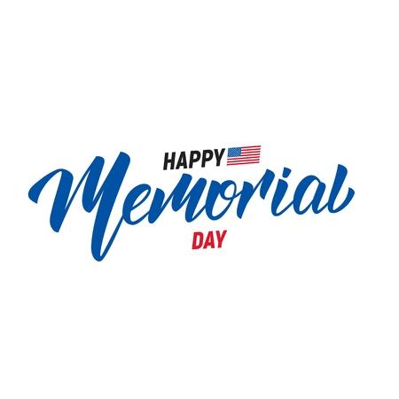 Día Conmemorativo. Diseño de tipografía de letras USA Memorial Day