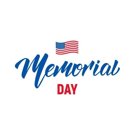 Memorial Day. USA Memorial Day lettering typography design Illustration