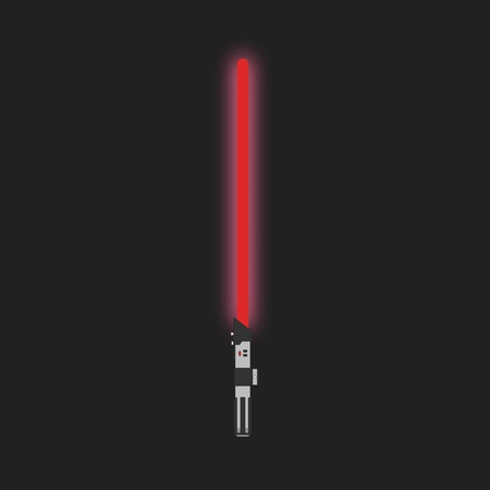 Red light saber, futuristic laser sci-fi weapon.
