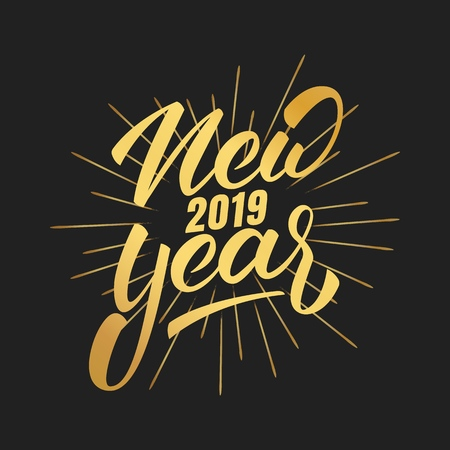 Happy New Year Logo 2019 37