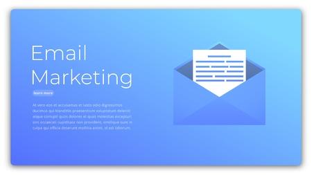 E-mail marketing. Web concept illustration of digital advertising, marketing, customer targeting. Vector Illustration