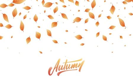 Fondo de hojas de otoño. Marco de hojas de otoño, superposición, diseño de banner.