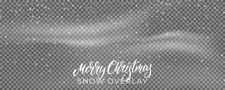 Snow. Winter Christmas snowstorm blizzard background. Snowfall, snowflakes in different shapes.
