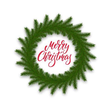 Christmas wreath. Decoration for Merry Xmas celebration.