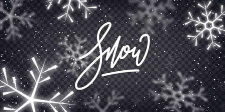 Snow winter background. Christmas magic snow overlay. Иллюстрация