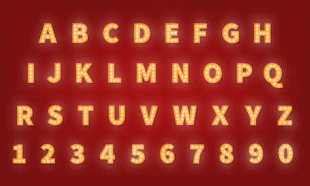 Retro gold typography font. 向量圖像