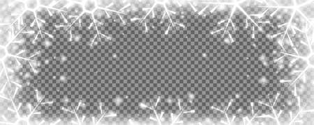 Snow freeze background. Snowy winter Christmas overlay.