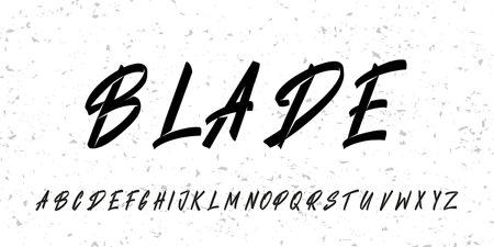 Brush alphabet font. Vector lettering typeface set.
