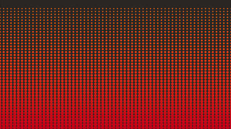 Background for burgers and showcases. Gradation of red dots on an orange background. Halftone colorful technology. Vector illustration. 일러스트