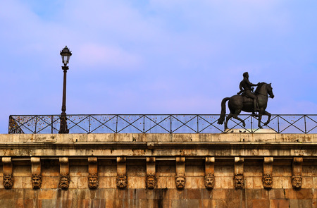 henri: Equestrian statue of King Henri IV on the island Cite, Paris