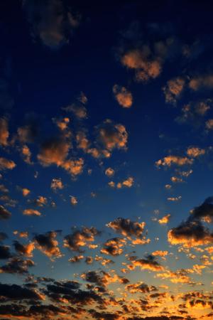 beautiful bright cloudy sky at sunrise