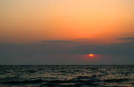 Beautiful seascape - sunset on the Black sea