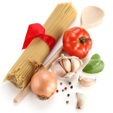 uncooked spaghetti  Stock Photo - 13538265