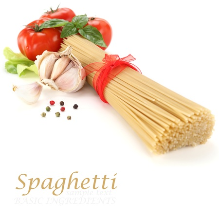 dried spaghetti  photo