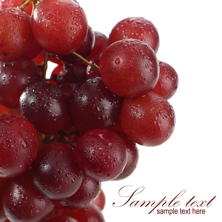 red grapes cluster Stock Photo