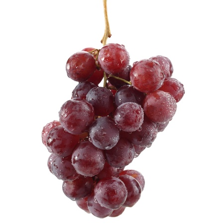 bunch of grapes on white Stock Photo