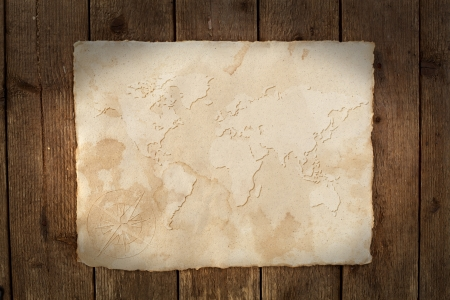 world map parchment photo