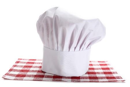 head chef hat on white background