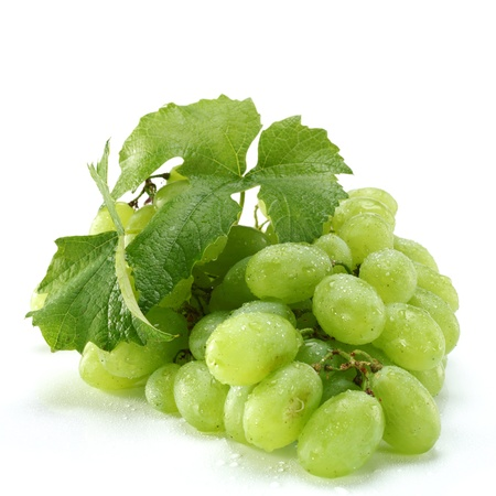 isolated bunch of green grapes Stock Photo