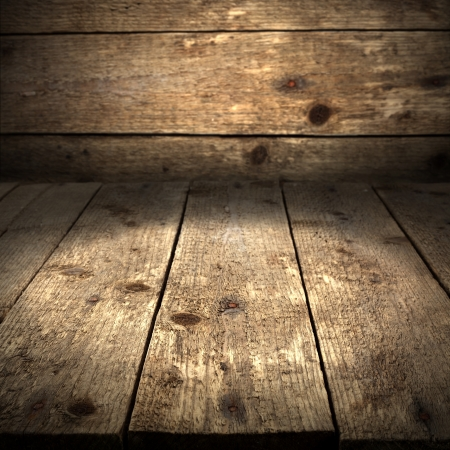 rustic table with wooden background Stock Photo